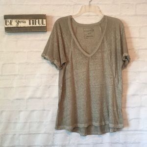 We the free green oversized V neck T-shirt sz S